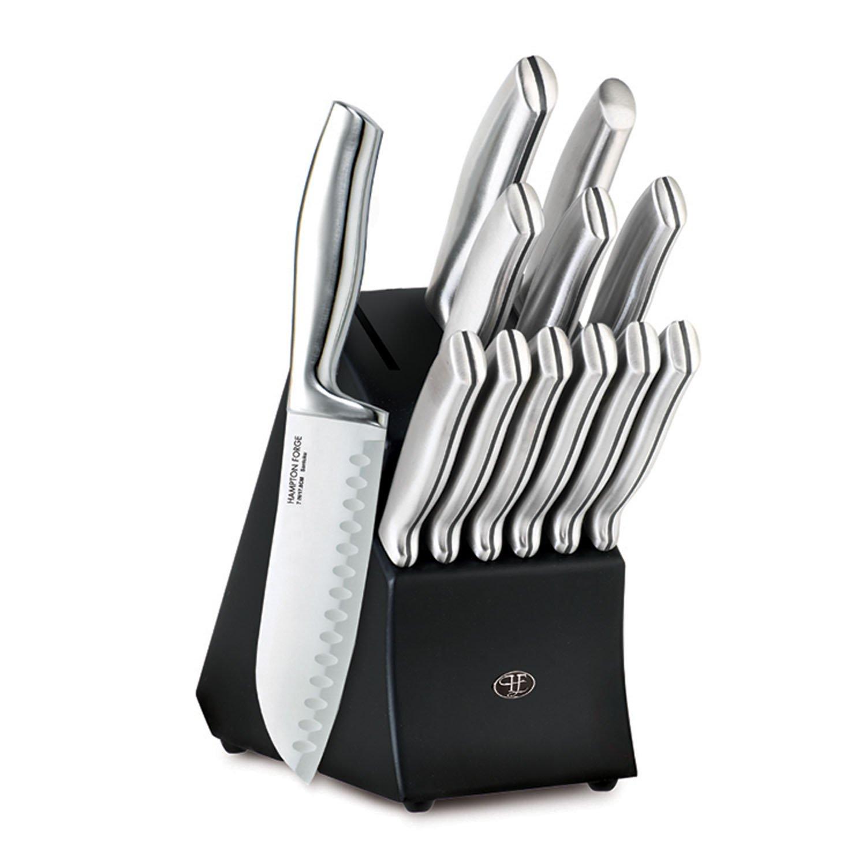 Hampton Forge HMC01B460A 13 Piece Kobe Cutlery Block Set, Metallic