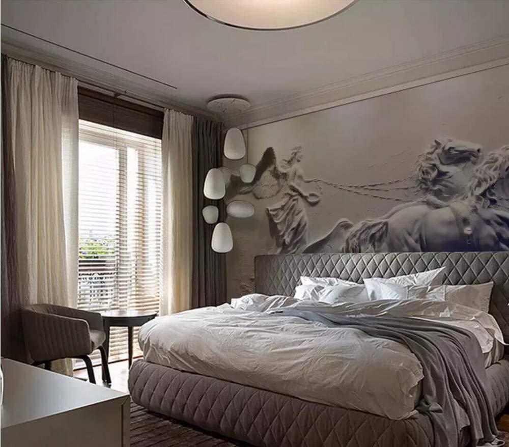 Fototapete 3D Effekt Tapete Engelskutsche Dreidimensionales Relief Vliestapete 3D Wallpaper Moderne Wanddeko Wandbilder