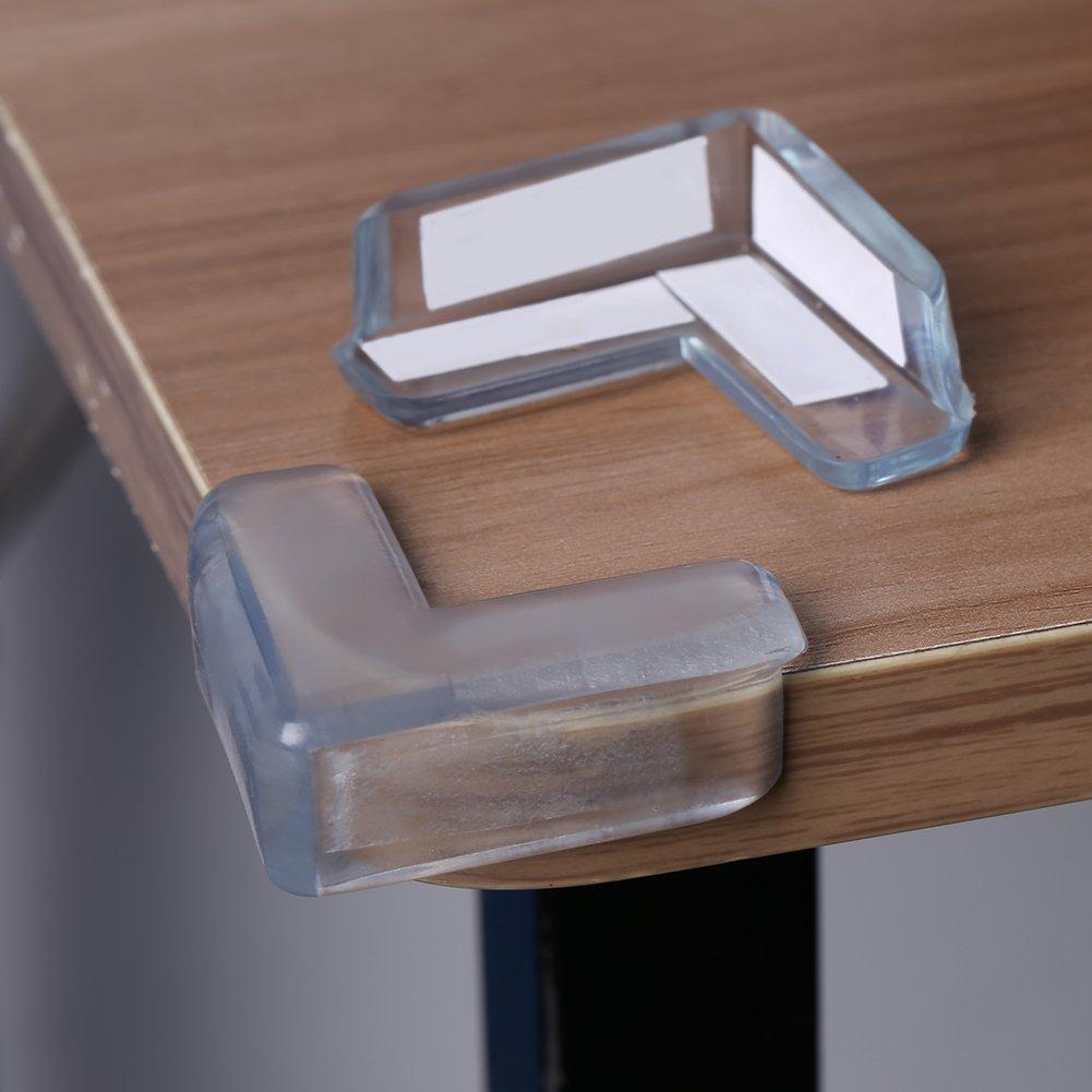 15Pcs Protection Coin de Table, Angle Droit Transparente Protection Angle  Sécurité Bébé Souple Anti-Chocs Protege ... 36a58c83223