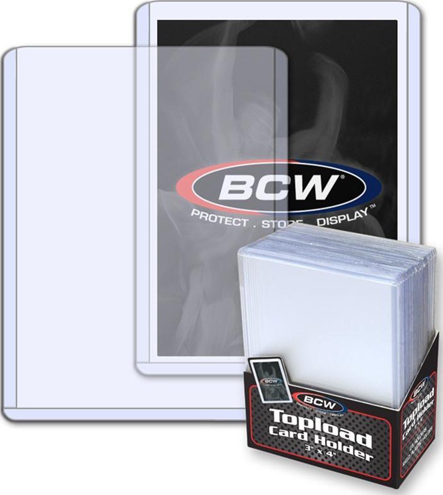 BCW (100 - 4 packs of 25) BCW Brand Trading Card Toploaders - 3'' x 4''
