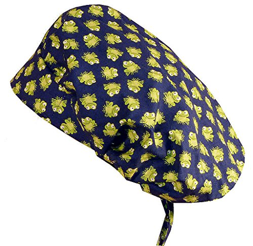 Bouffant Medical Scrub Cap - Tossed Frogs on ()