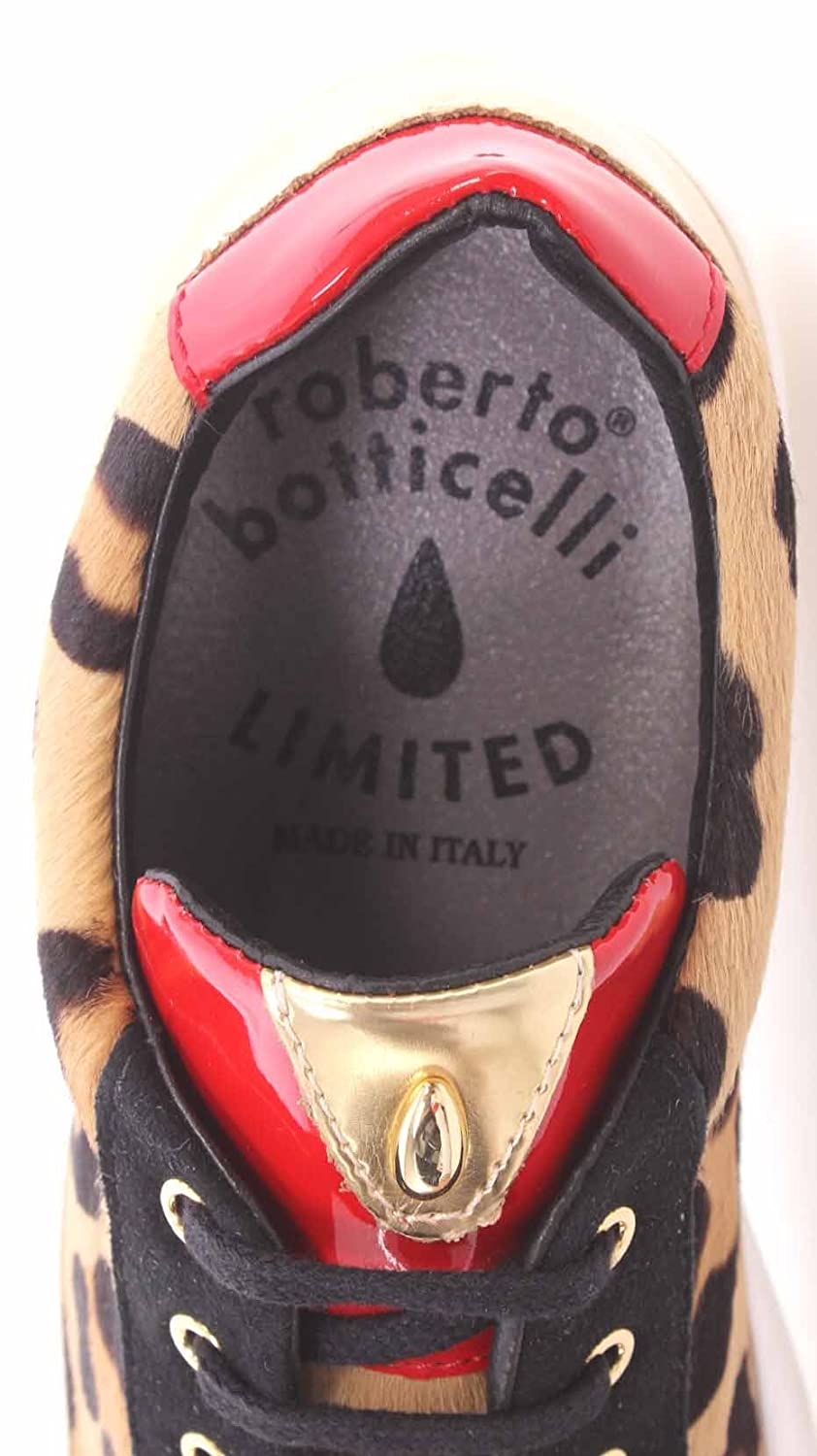Limited Botticelli Scarpe Roberto Sneakers Gold Leopard Pony Donna 1n6qgp8