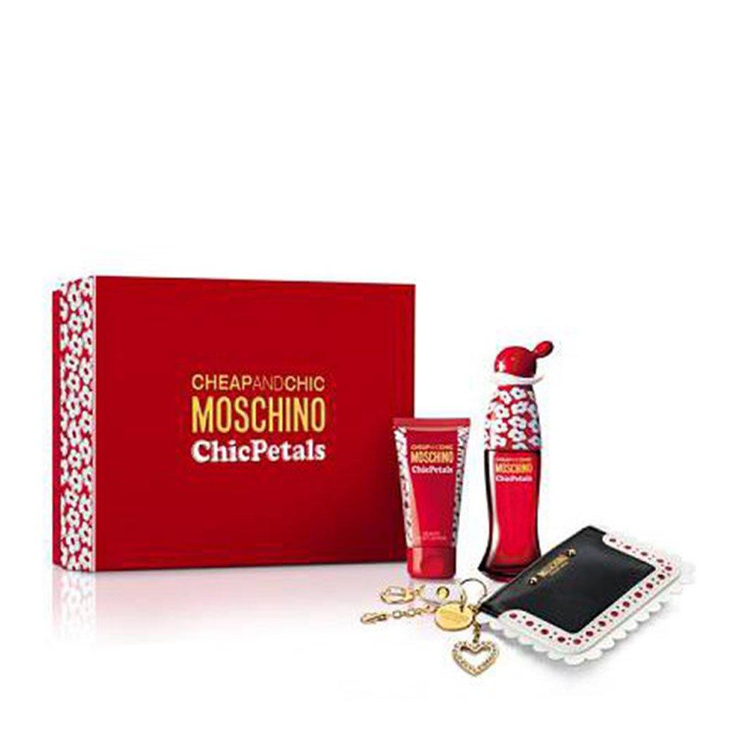Gift Set Cheap & Chic Petals Pour Femme: Eau de Toilette 50 ml + Body Lotion 50 ml Donna + Portafoglio Moschino 8011003820528
