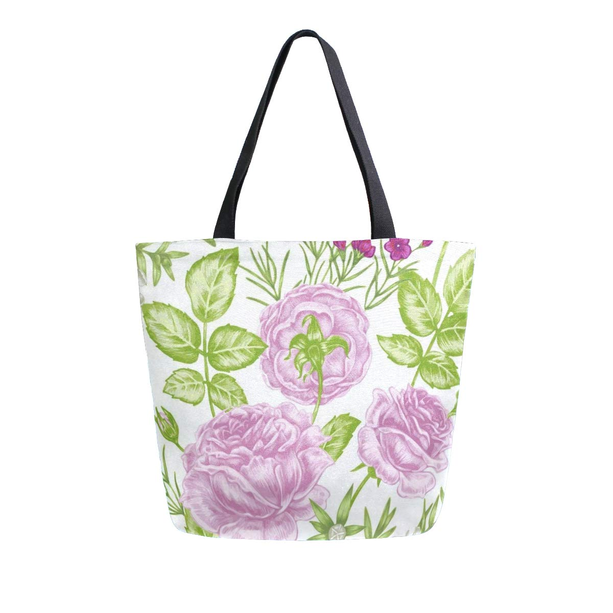 Canvas Tote Bag Floral...