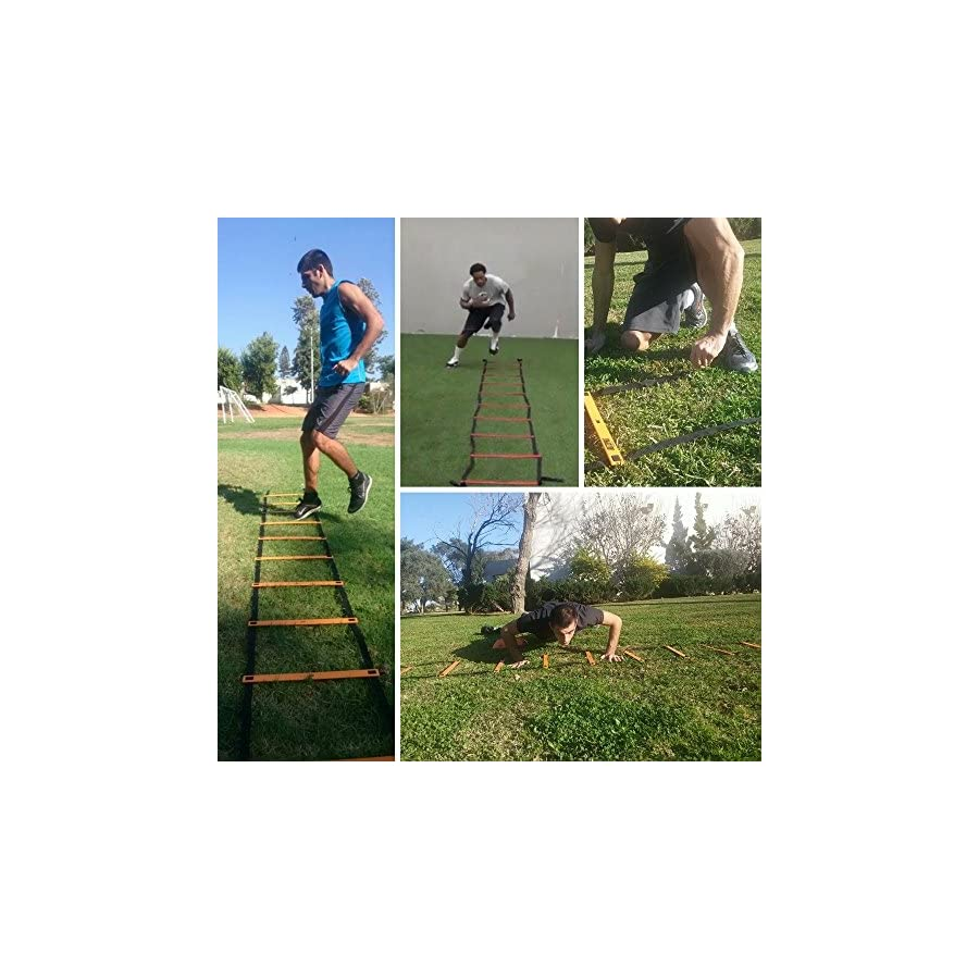 Bltzpro Agility Ladder with Cones Fitness Gear Improve Soccer,Football & Sports Skills, Used by Athletes & Coaches.16ft| 12 Adjustable Rungs|12 Cones|2 Carry Bags|4 pegs|Footwork Drills ebook