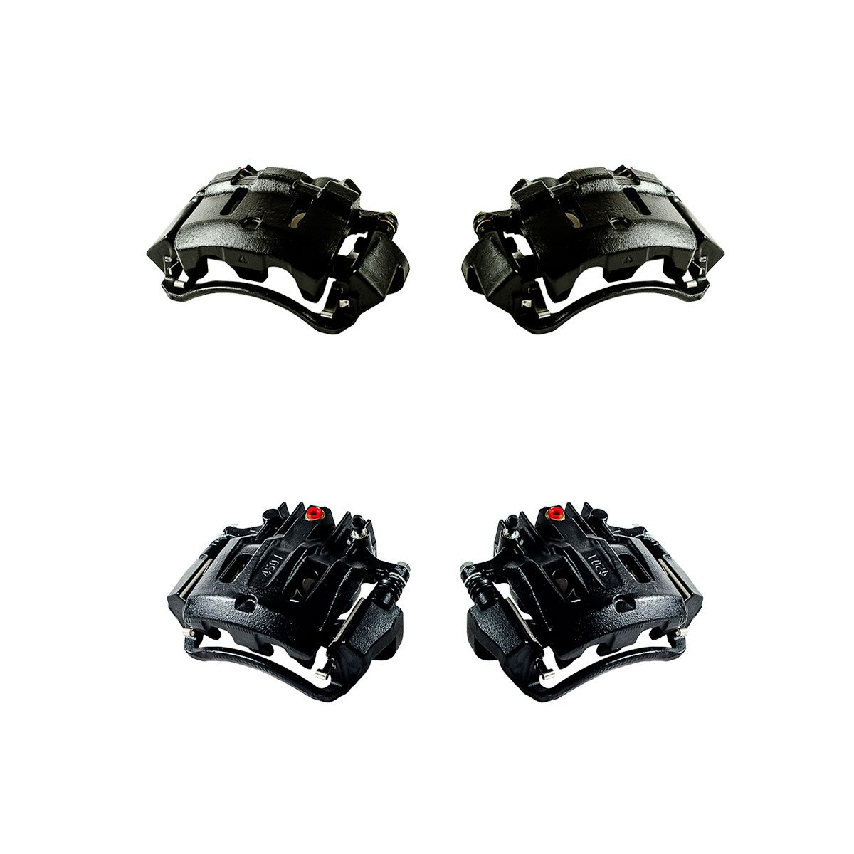 CCK12397 FRONT Performance Grade Semi-Loaded Powder Coated Black Remanufactured Caliper Assembly Set Kit REAR 4
