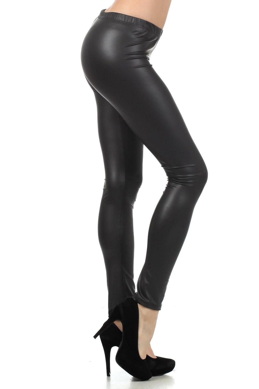 dcee3335c3ebe5 Sakkas Footless Ultra Slim Fit Matte Liquid Wet Look Leggings at Amazon  Women's Clothing store: