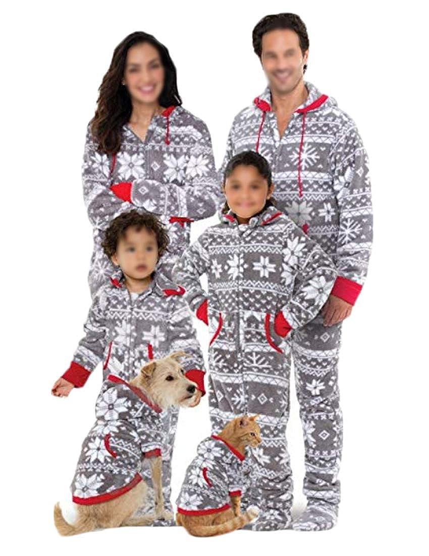 hujukuludusu Christmas Family Matching Hoodie Pajamas Set Homewear Sleepwear