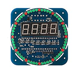 Diymore DS1302 Rotating LED Display Electronic Digital Alarm Clock DIY Kits 51 SCM Learning Board