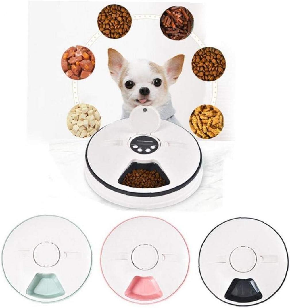 Alimentatore Automatico dellanimale Domestico Timing Alimentatore 6 Pasti 6 Griglie Gatto Cane Elettrico Dry Dispenser Alimentare Piatto di Alimentazione 24 Ore Supplies Pet Timer