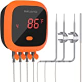 Inkbird Waterproof Bluetooth Meat Thermometer IBT-4XC, 4 Probes BBQ Grill Thermometer, Rechargeable Battery, Magnet…