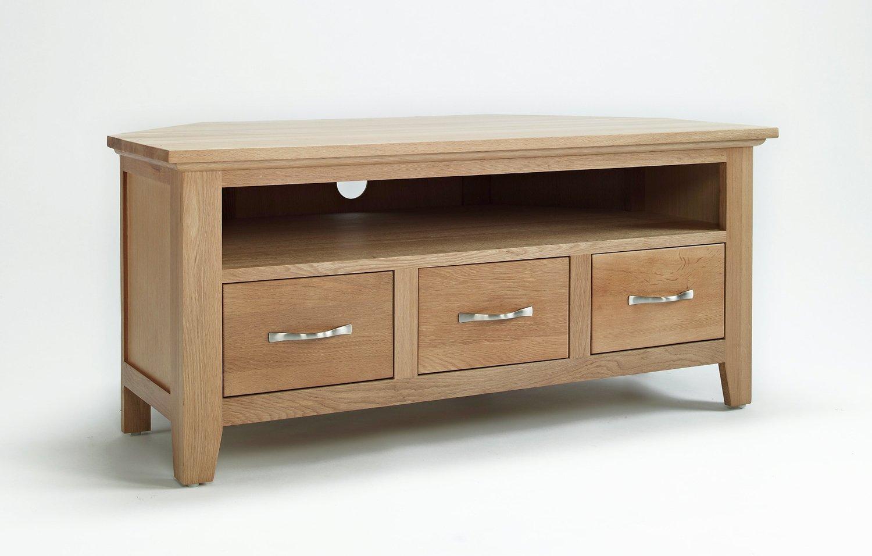 Nottingham Oak Living Room Furniture Corner TV/Video Unit: Amazon.co.uk:  Kitchen U0026 Home