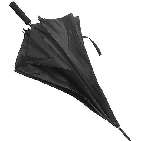 Paraguas Grande (Diámetro 126 cm). Anti Viento con Varillas Dobles Reforzadas. Cómodo