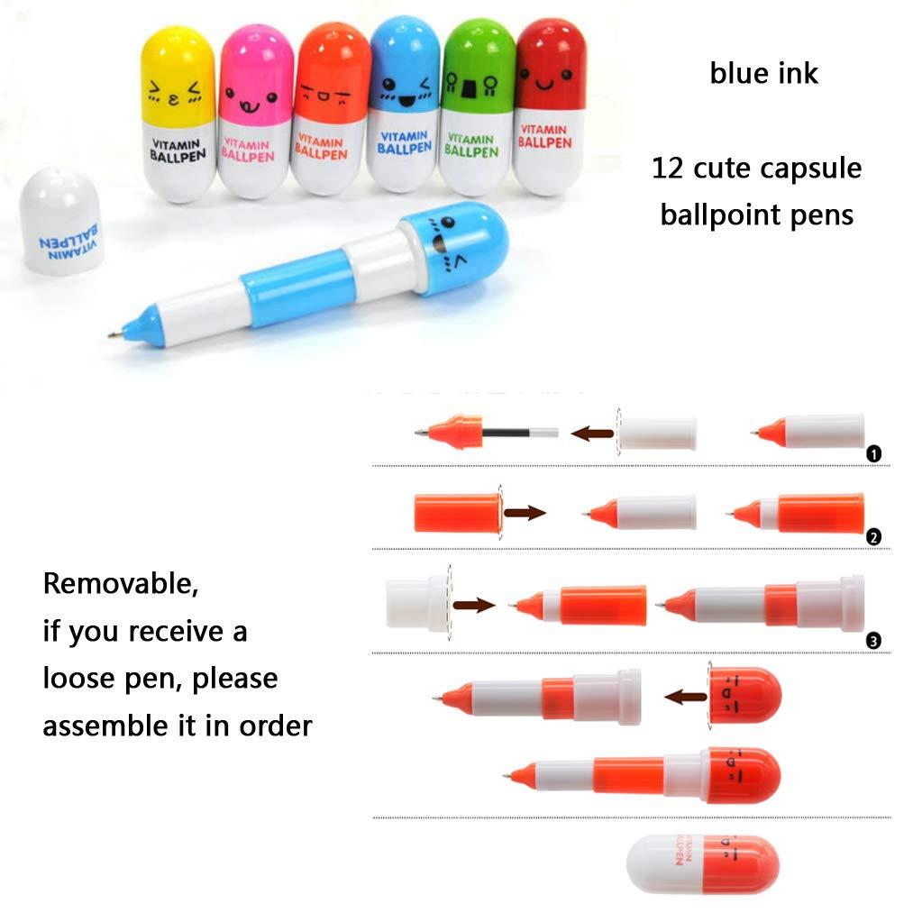 evidenziatori siringa con penne ago infermieristica vitamine pillola penne note appiccicose regali freddi per infermiera studente 34 pezzi carino scuola forniture set