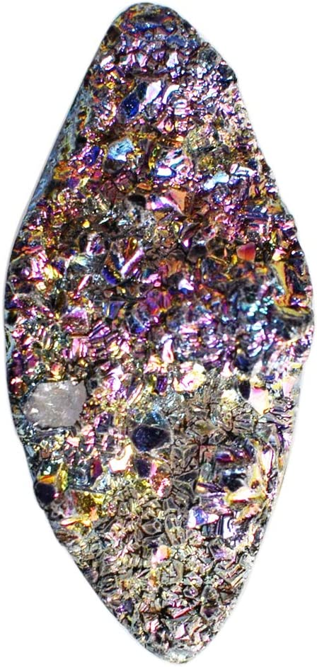 Atractivo collar de titanio drusy, tamaño 40 x 17 x 11,5 mm, para bisutería, piedra colgante de piedra, AG-12442