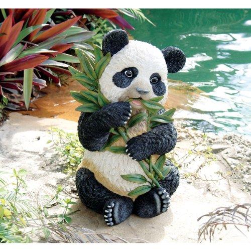 (Artistic Solutions Asian Chinese Baby Panda Pool Garden Sculpture Statue Sculpture )
