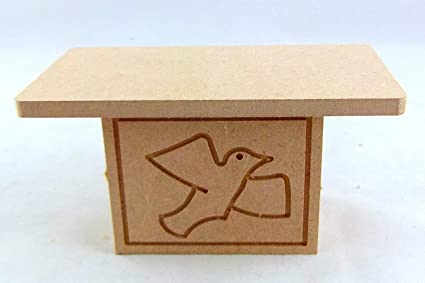 Wood Carving 1:12 Scale Miniature Church Desk For Doll House Finished In Walnut