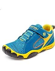 Unpowlink Kinder Schuhe Sportschuhe Ultraleicht Atmungsaktiv Turnschuhe Klettverschluss Low-Top Sneakers Laufen Schuhe Laufschuhe für Mädchen Jungen 28-40