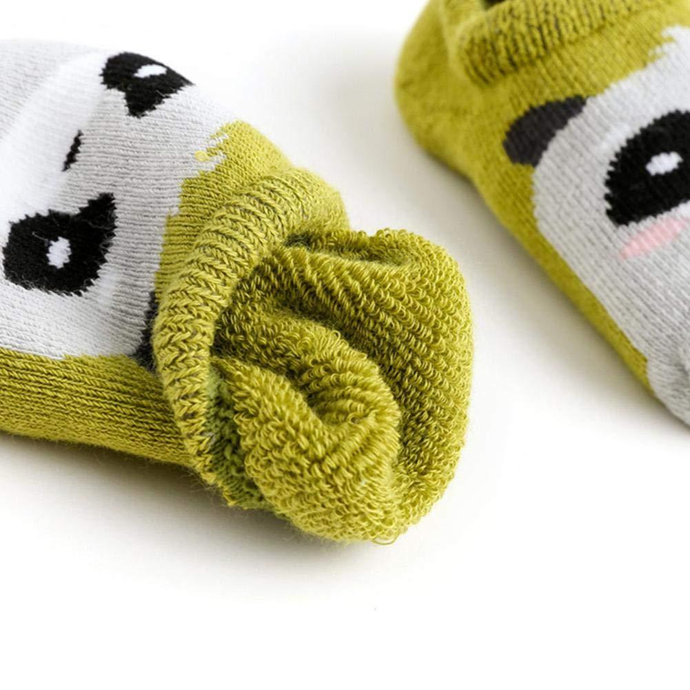 6 Paires Unisexes Nouveau-N/és Socquettes Mignon B/éb/é Cartoon Chaussettes Antiderapant Enfant en Bas /âge Gripper Chaussettes Styles Al/éatoires