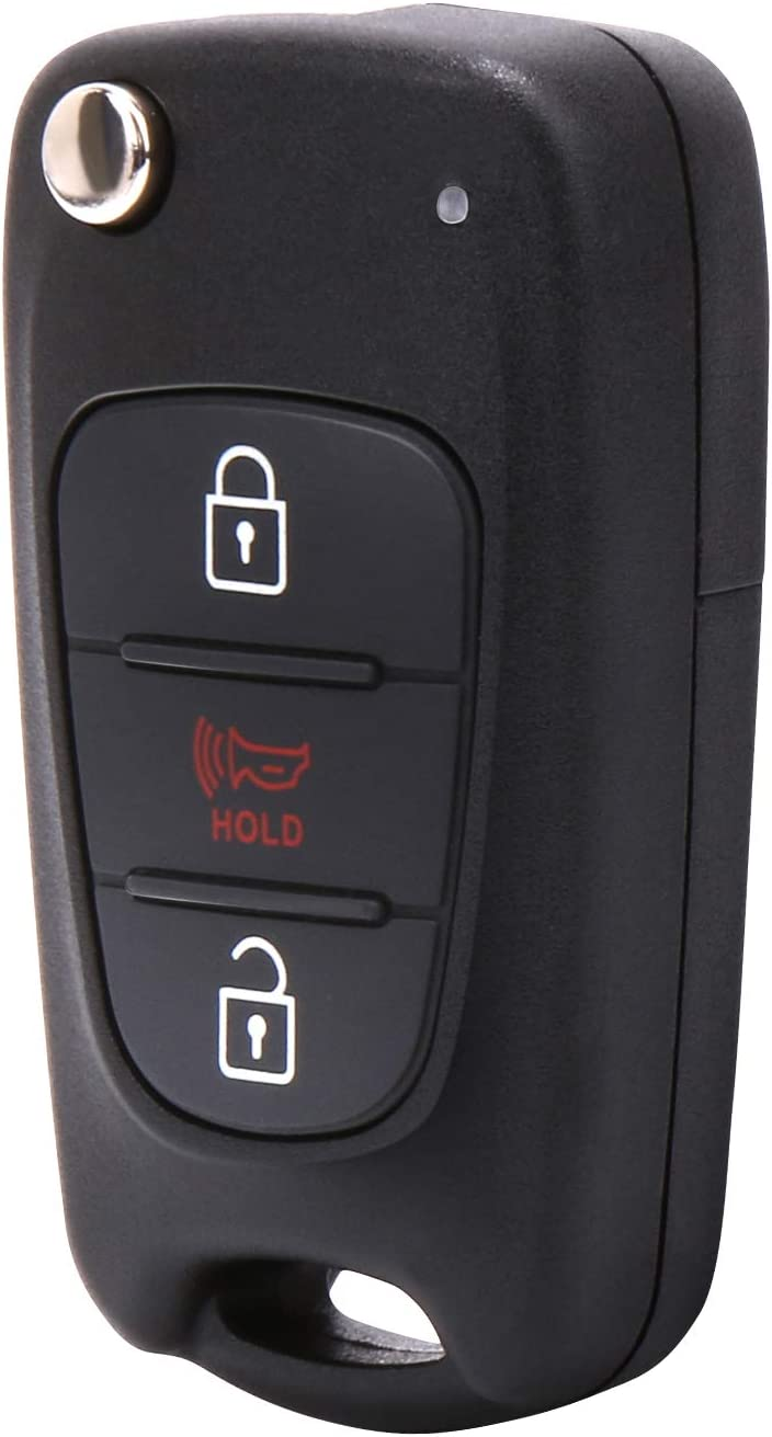 AM11MY, 95430-2K250 VOFONO Car Key Fob Fit for Kia Soul Vehicles 2010-2013 Replaces NYOSEKSAM11ATX 3-Button Without Push Button Proximity Ignition Keyless Remote