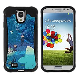 LASTONE PHONE CASE / Suave Silicona Caso Carcasa de Caucho Funda para Samsung Galaxy S4 I9500 / secret night