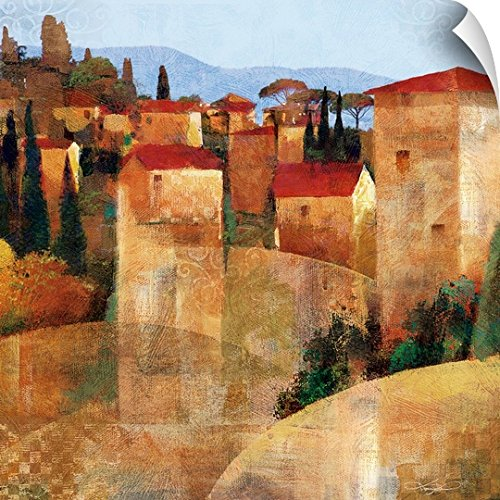 Canvas on Demand Keith Mallett Wall Peel Wall Art Print entitled Tuscan Hillside 35