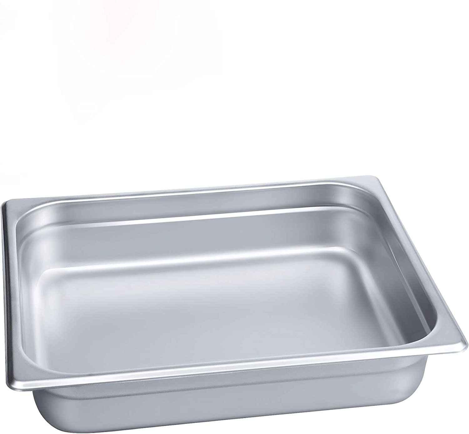 """2 1/2"""" Deep Steam Table Pan Half Size,Kitma 4 Quart Stainless Steel Anti-Jam Standard Weight Hotel GN Food Pans - NSF (12.8""""L x 10.43""""W) - 12 Pack"""