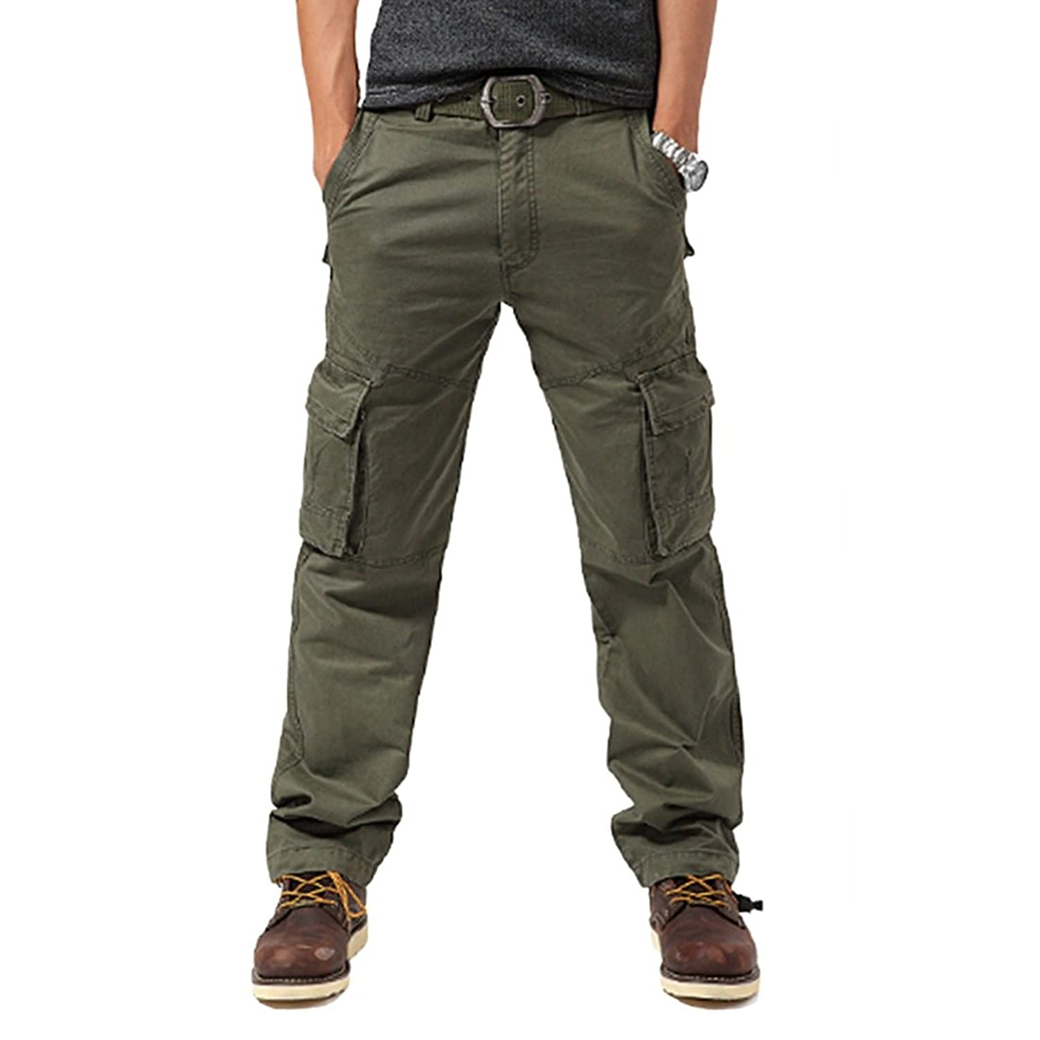 Men's Fashion Pockets Pants Cargo Overalls Training Tactical Britches Trousers