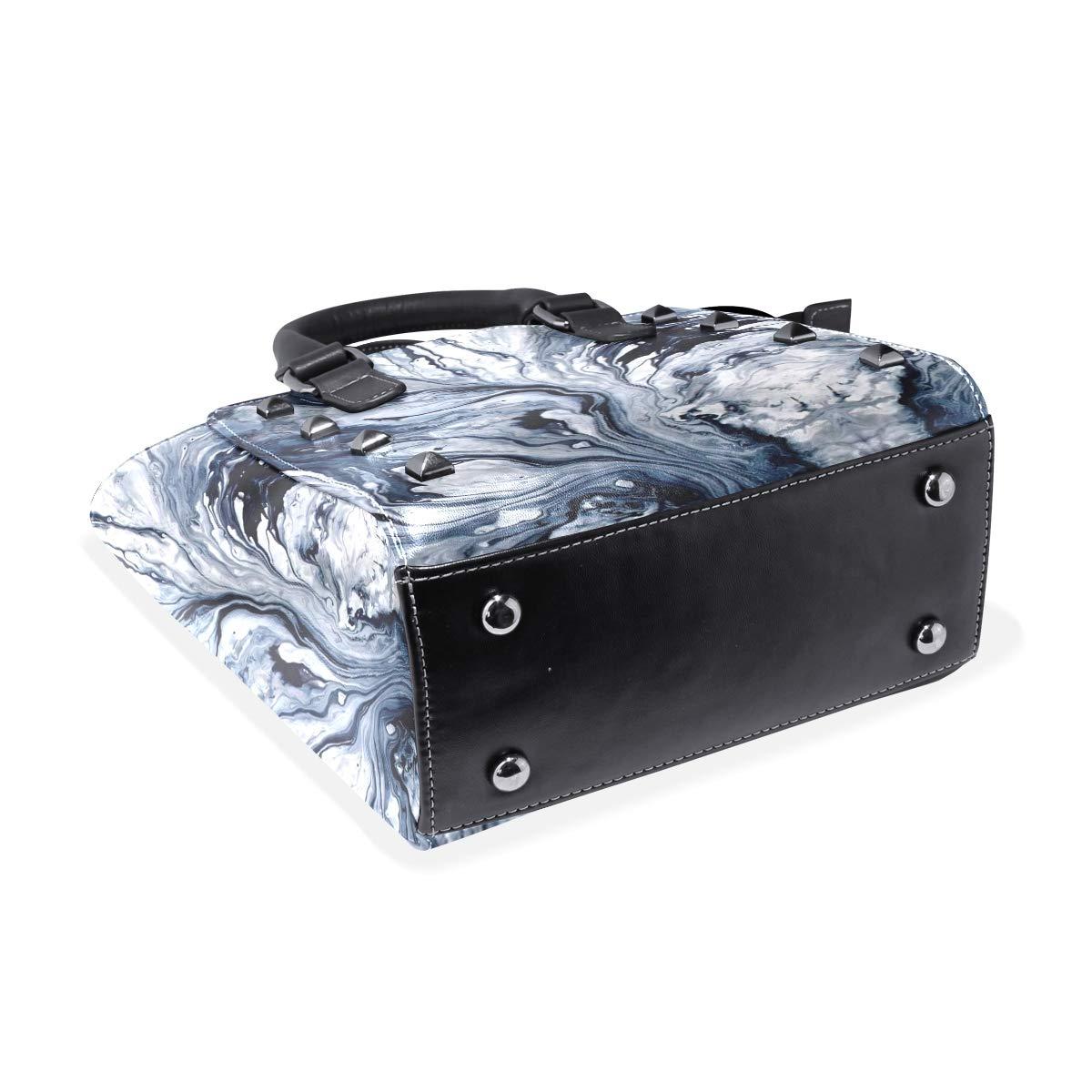 Water Abstract Marble Womens Classy Satchel Handbag Handbag With shoulder Strap Crossbody Bag