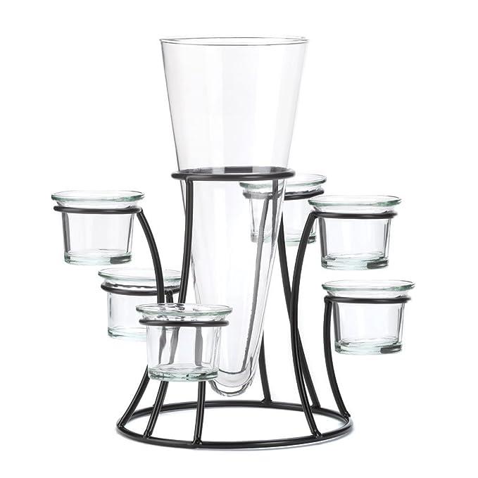 Glass Beautiful Circular Candle Stand Centerpiece Vase