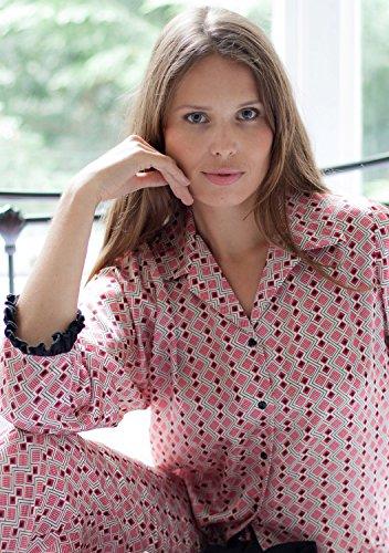 Cotton Real - Ensemble de pyjama - Femme Multicolore Bordeaux & Black Small