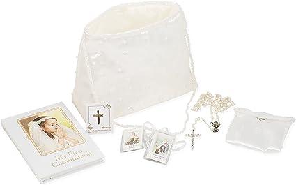 1st Holy Communion Rosary White Purse Communion Gift Girl Communion Purse