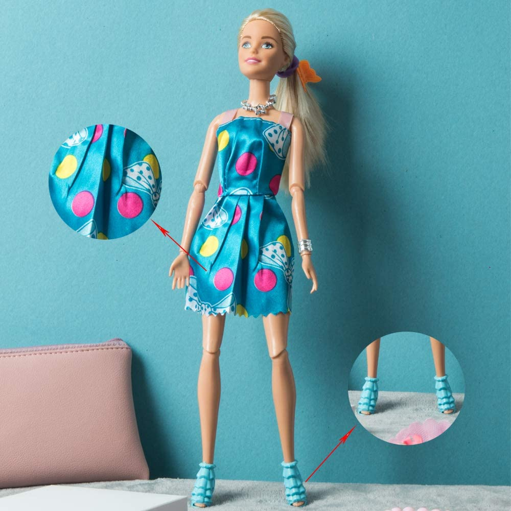 2018 Barbie Doll Fashion Pack New BEAUTIFUL TEAL DRESS