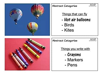 Amazon.com: Abstract Categories Flashcards: Toys & Games