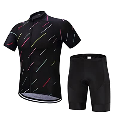 a15d732f9 Amazon.com  XHYR Men s Cycling Jersey Set Road Bike Jersye Short Sleeves  Cycling Kits Bib Shorts with 3D Padded  Clothing