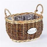 EXDJ Pure hand woven Liu Yi Flower Basket Garden willow Straw flower pot,A,33x20cm