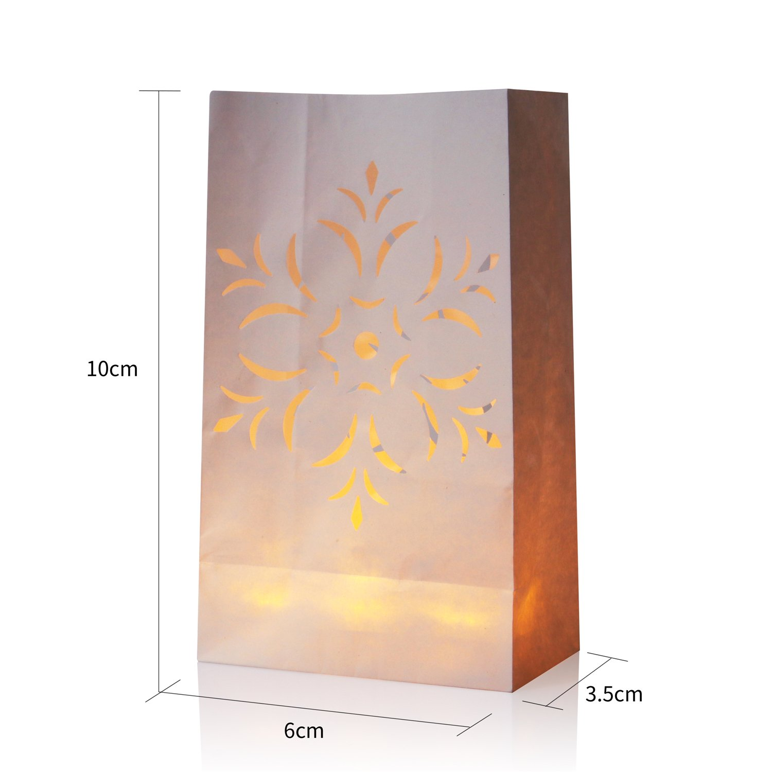 Candle Bag AceList Flameless Luminara Tea Lights Luminary Luminaries Bags For Wedding Party Event Decoration 50 Set Flameless Candles