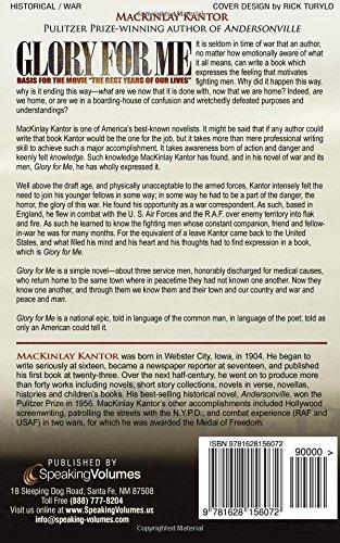 Glory for me mackinlay kantor 9781628156072 amazon books fandeluxe Images