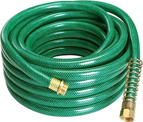 Garden Hose 4-Ply - 25ft and 50ft - Garden Hose Quick Connect - No Kink Garden Hose -