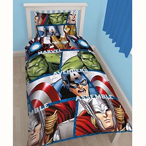 Marvel Avengers Shield Reversible Single Duvet Cover (Marvel Duvet Cover Full)