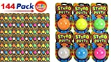 JA-RU STYRO Putty Foam Glows in The Dark (Pack of 144) Styrofoam Shapable Mold Soft and Squishy | Item #1328-144