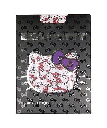 1da63ec37 Amazon.com  Sanrio Hello Kitty Fashion Sheer Tights Faces with Red ...