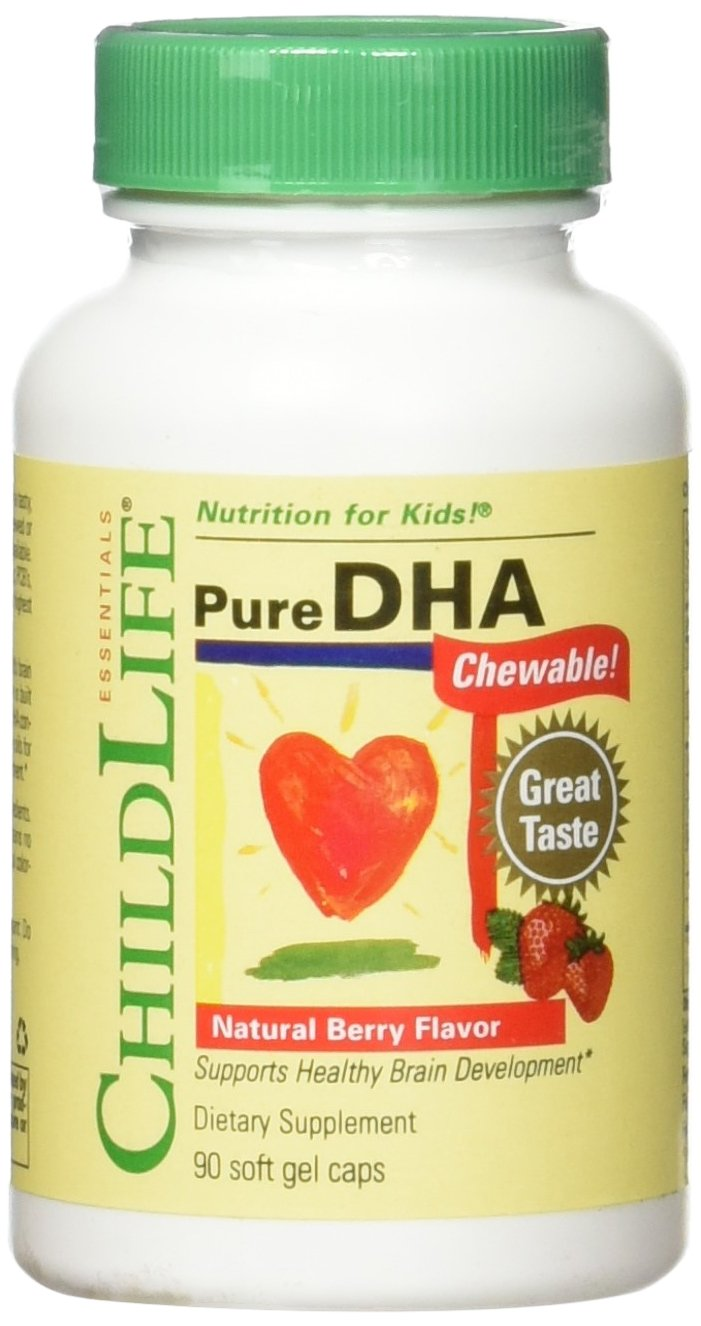Child Life 2 Piece Pure DHA Soft Gel Capsules Supplements, 180 Count