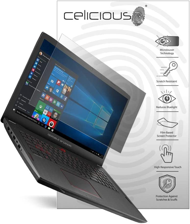 Celicious Vivid Plus Mild Anti-Glare Screen Protector Film Compatible with Asus ROG Strix Scar 3 G531 Pack of 2