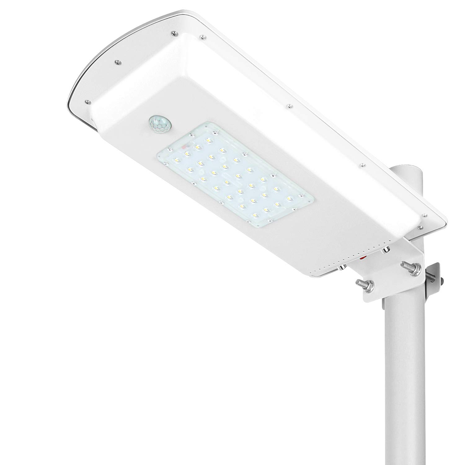 TENKOO Solar Street Lights Dusk to Dawn 1500LM-13200mAH Lithium Battery PIR Motion/Light Sensor No Wire Waterproof IP65 Outdoor Commercial Street Lighting Fixture for Parks/Garages/Path Lighting