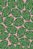 5x7ft Tropical Leaves Wedding Photo Backdrop Tapestry Pink Banana Leaf Photography Background Tapestry Wall for Living Room Bedroom Decor Newborn Photo Props Shoot W-804