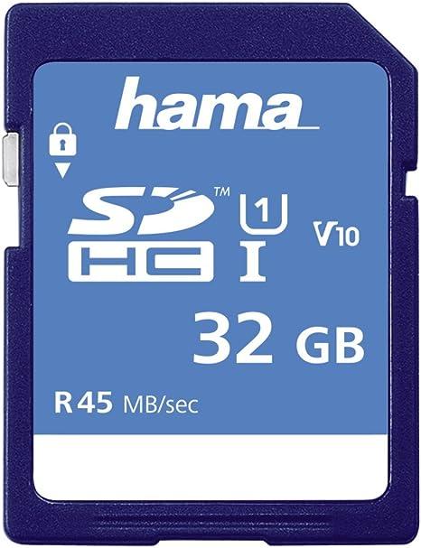 Amazon.com: Hama 32 GB tarjeta de memoria (SDHC, clase 10 ...