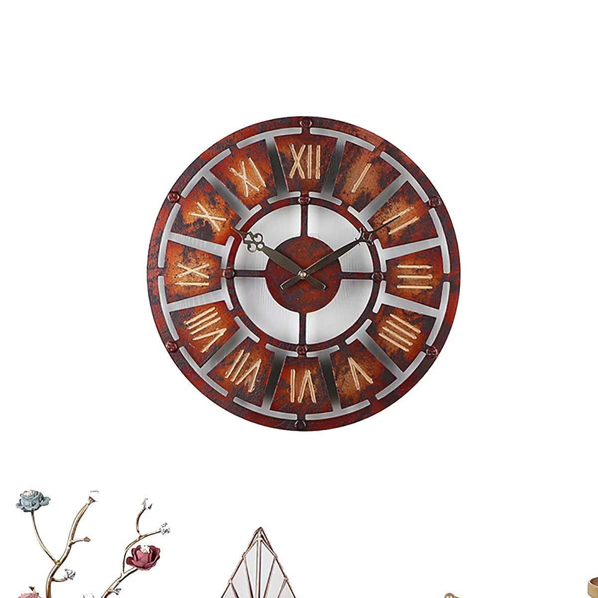 Amazon.com: BJXM Retro Gear Clocks Art Mechanical Wall Clock Mute Living Room Nostalgic Wall Hanging Industrial Wind Bar Creative Trend Restaurant Home ...