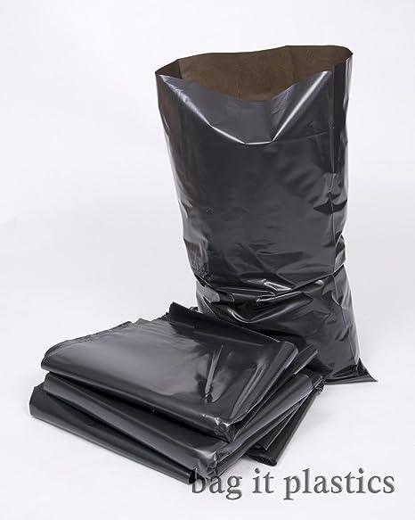 ODL Packaging 50 Black Polythene Heavy Duty Rubble Sacks Bags 20 x 30