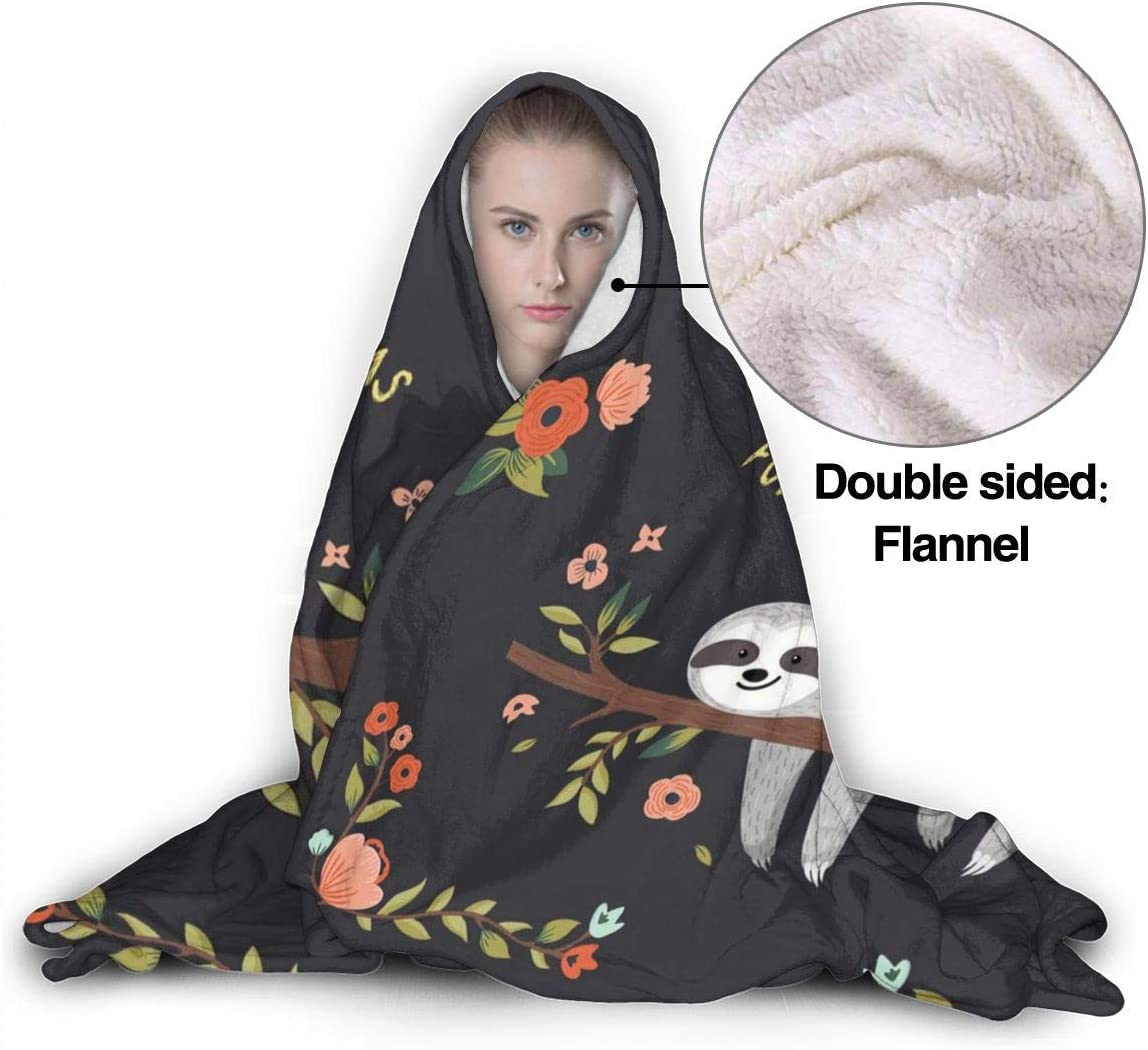 MSGUIDE Alphabet with String Lights Hooded Blanket Anti-Pilling Flannel Wearable Blanket Hoodie-Plush Warm Blanket Throw Blankets Fit for Kids Adults Teens